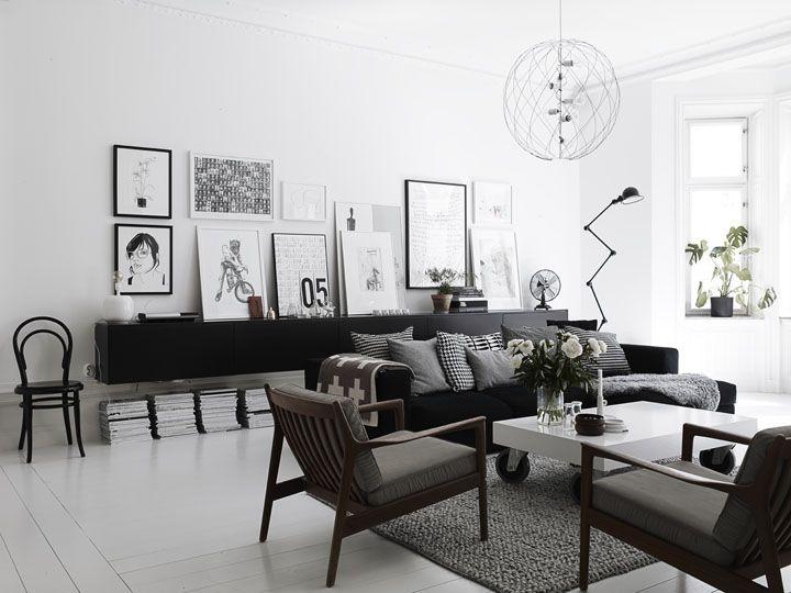 Scandinavian Style White And Black Scandinavian Design Living Room Living Room Scandinavian Minimalism Interior