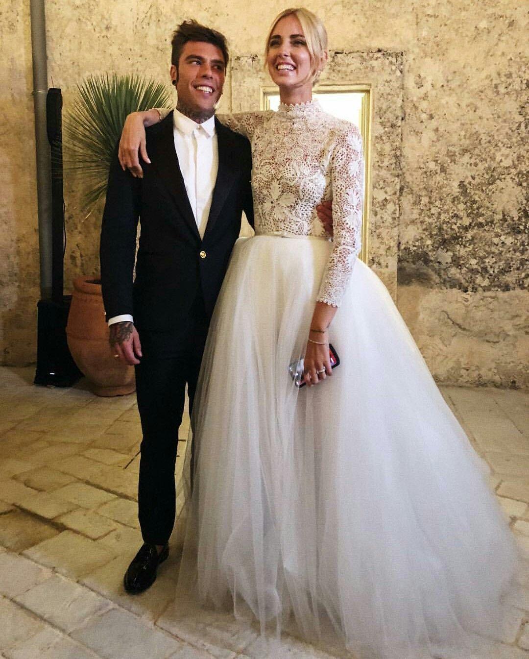 Chiara Ferragni and Fedez wedding in Noto Sicily wearing a Dior