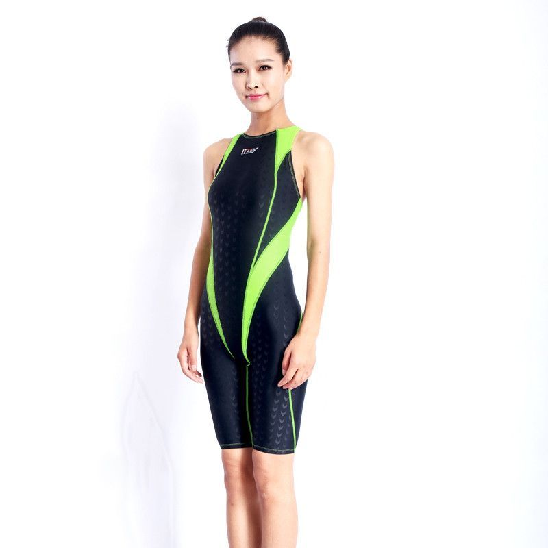 253f0b7ff27 Arena swimwear women swimming suit Competition swimsuit girls racing  swimsuits knee swim suits shark competitive HXBY NEW