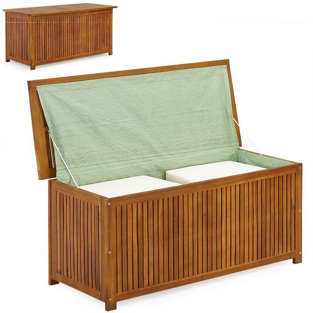 Gartenkiste kissenbox w schetruhe akazienholz inkl for Pool innenplanen