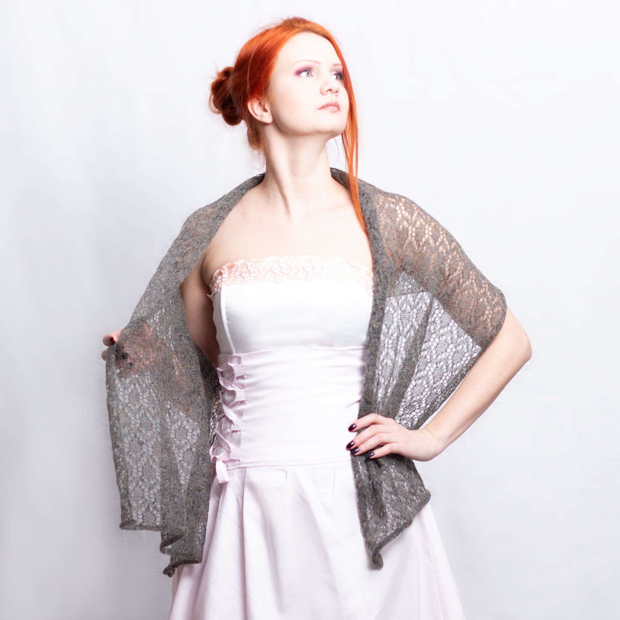 55395cc07d #Gray #brown #bridal #shawl, Lace knit bridal shawl, Black #metallic #Knit #wedding  lace shawl #knitwear #fashion #handmade