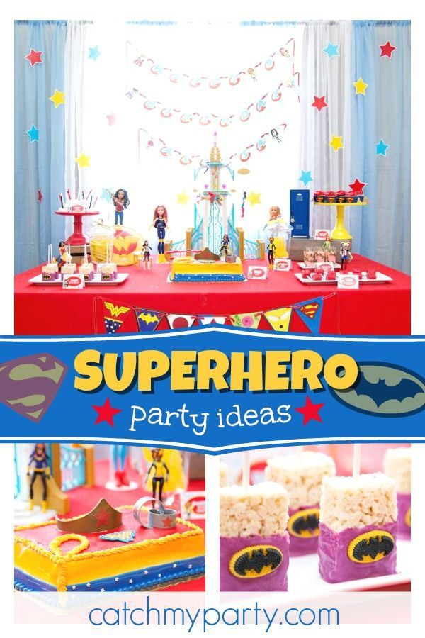 Check Out This Incredible DC Superhero Girls Birthday Party The Food Is Amazing See More Ideas And Share Yours At CatchMyParty