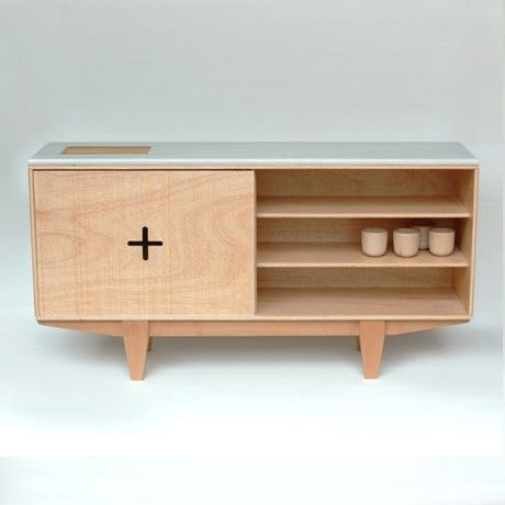 Ply cabinet, leather cross and concrete top | Plywood | Pinterest ...