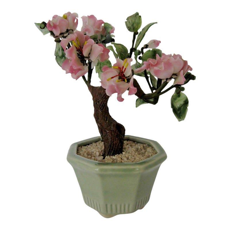 Glass Bonzai Tree Sculpture Bonzai Tree Tree Sculpture Cherry Blossom Bonsai Tree