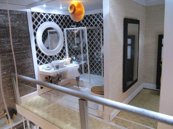 Miniaturas modernas loft actual baño 1