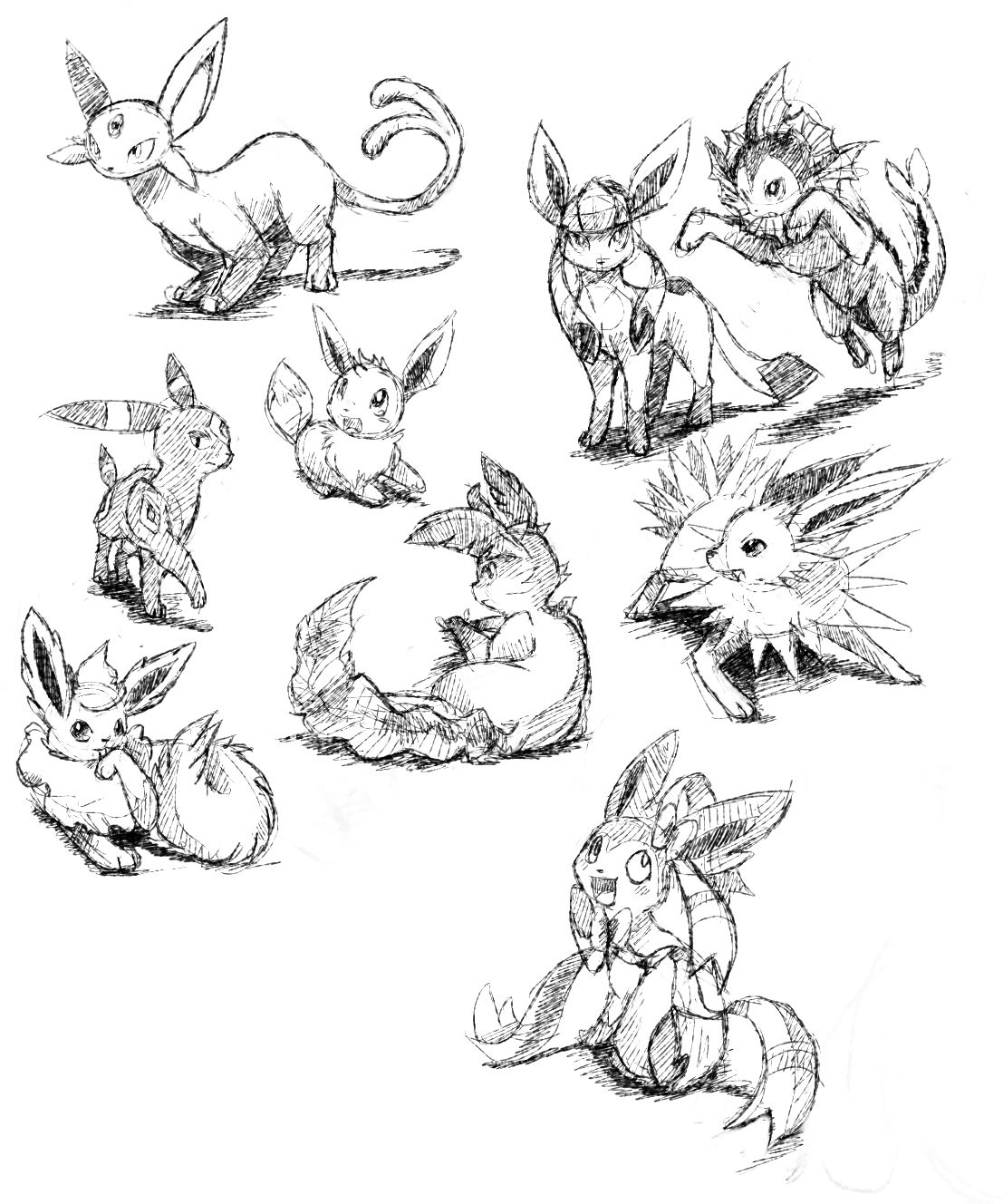 coloriage pokemon evolution d evoli