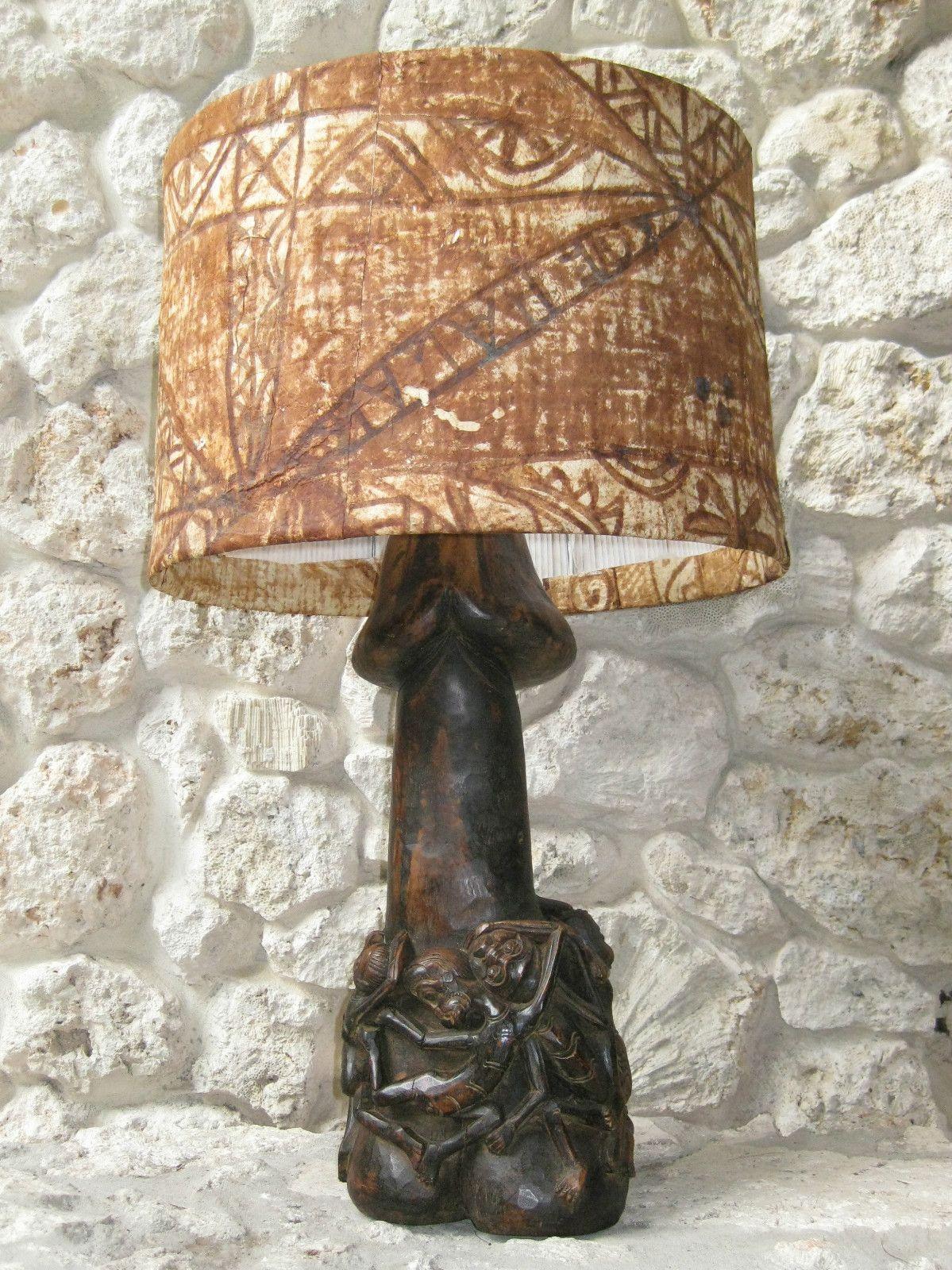 Borneo Fertility Penis Shape Lamp Sculpture Baron Sepy Dobronyi Estate Sale L726 Fertility