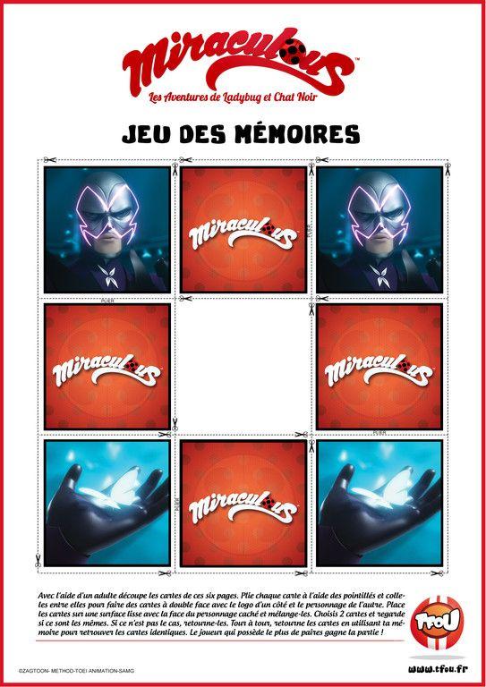 Jeu des Mémoires - Papillon - Miraculous | Jeux, Jeux ...