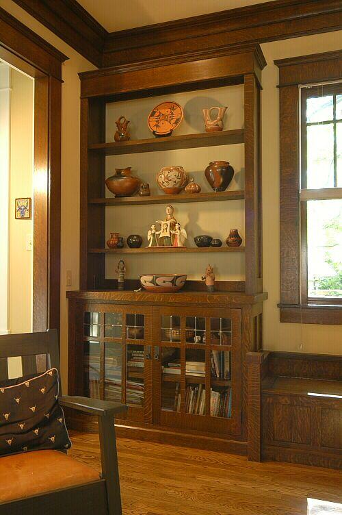 Bookcase custom arts crafts millwork by el dorado for Cabine el dorado