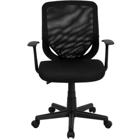 flash furniture mid back mesh office chair with mesh fabric seat