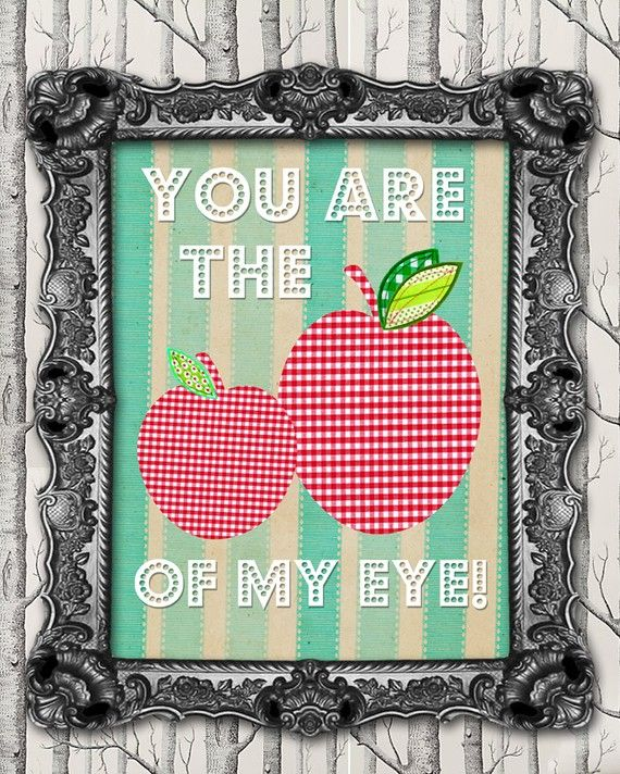Apple Of My Eye For My Grandson Tyler And My Granddaughter Amber Apple Baby Shower Baby On The Way 8x10 Print