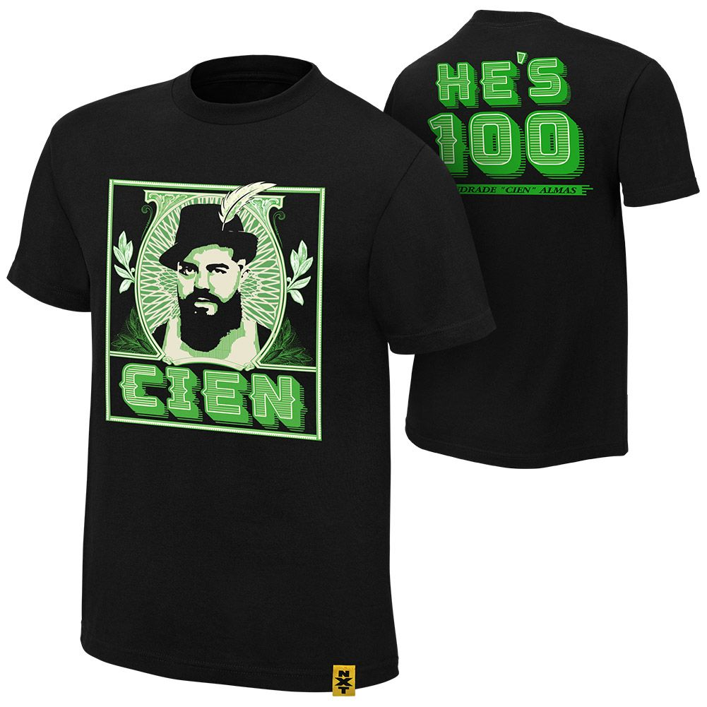 """Andrade """"Cien"""" Almas """"He's 100"""" Authentic T-Shirt"""