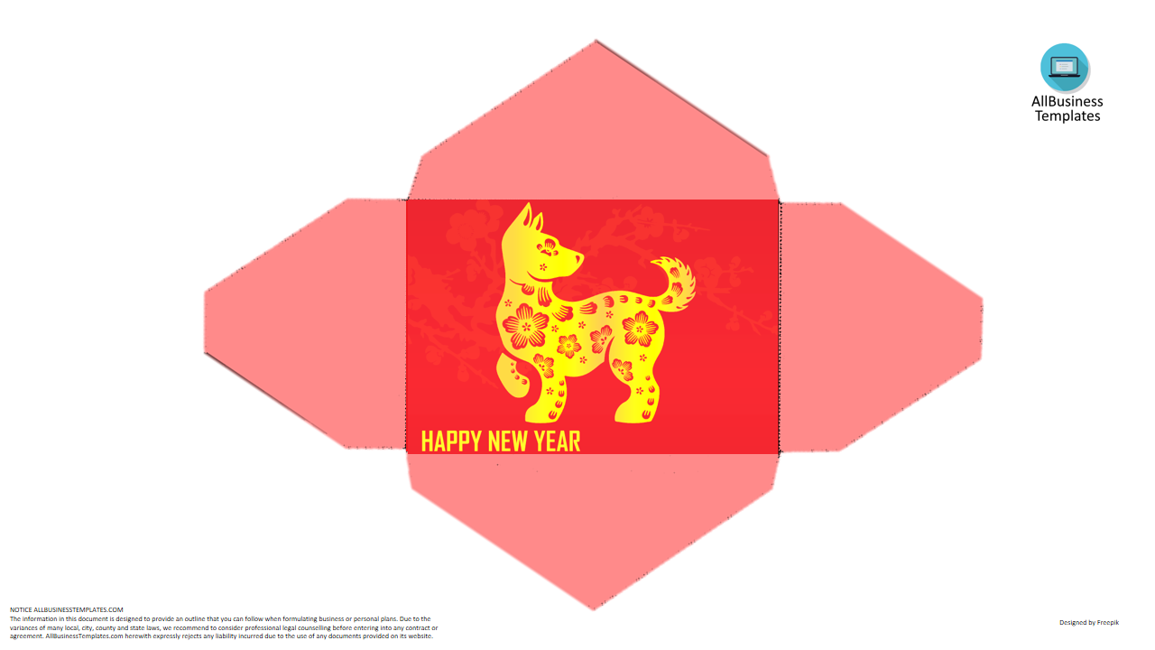 Dog Hongbao Template For Spring Festival   Do You Need A