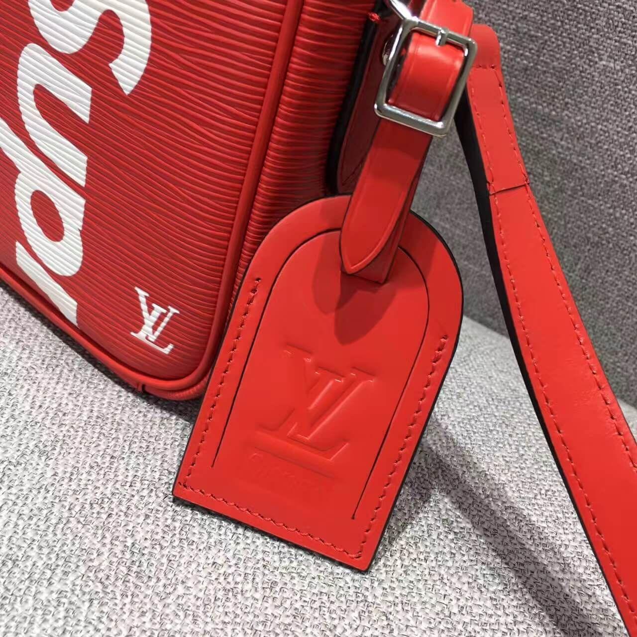 91342f1c5a24 Louis Vuitton x Supreme Epi Leather PM Cross Body Men s Shoulder Bag Red  2017