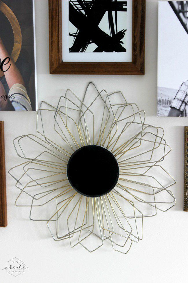 DIY Sunburst Mirror Using Ugly Wire Hangers! | Sunburst mirror ...
