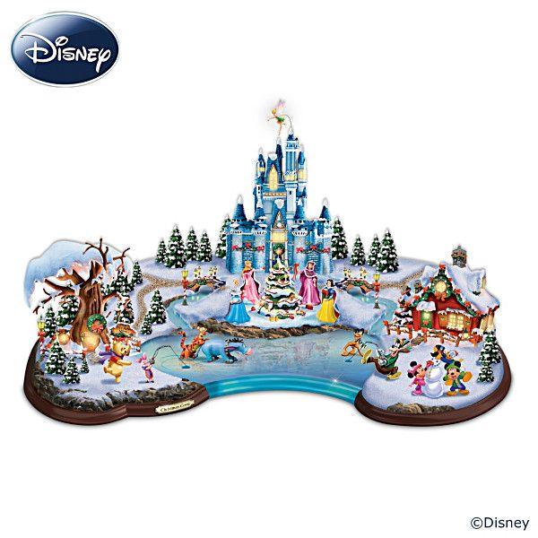"Disney ""Christmas Cove"" Illuminated Village Sculpture"