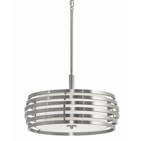 bands 1799in w brushed nickel pendant light with fabric shade