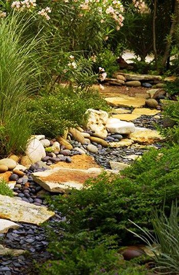 diy dry creek landscaping ideas