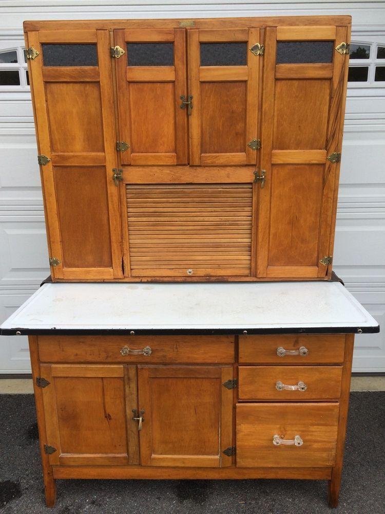 Good Antique Hoosier Cabinet Made By (wilson Kitchen Cabinet)