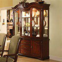 Furniture of America CM3561HB Majesta Buffet and Hutch