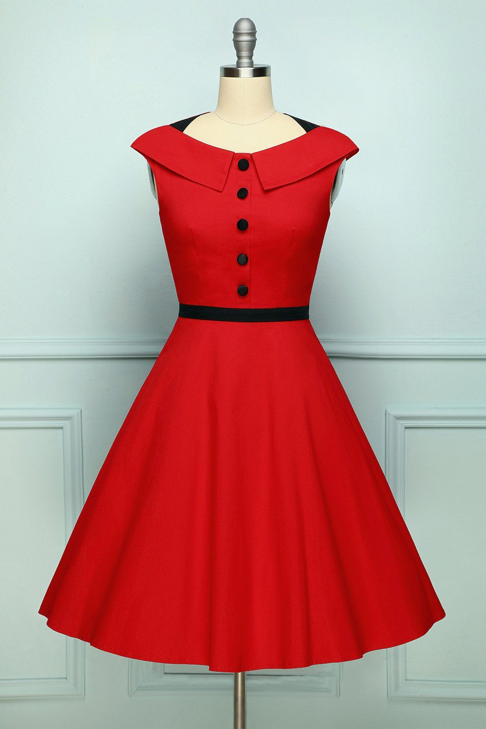 Button Red Dress Dresses Red Dresses For Sale Red Dress [ 1500 x 1000 Pixel ]