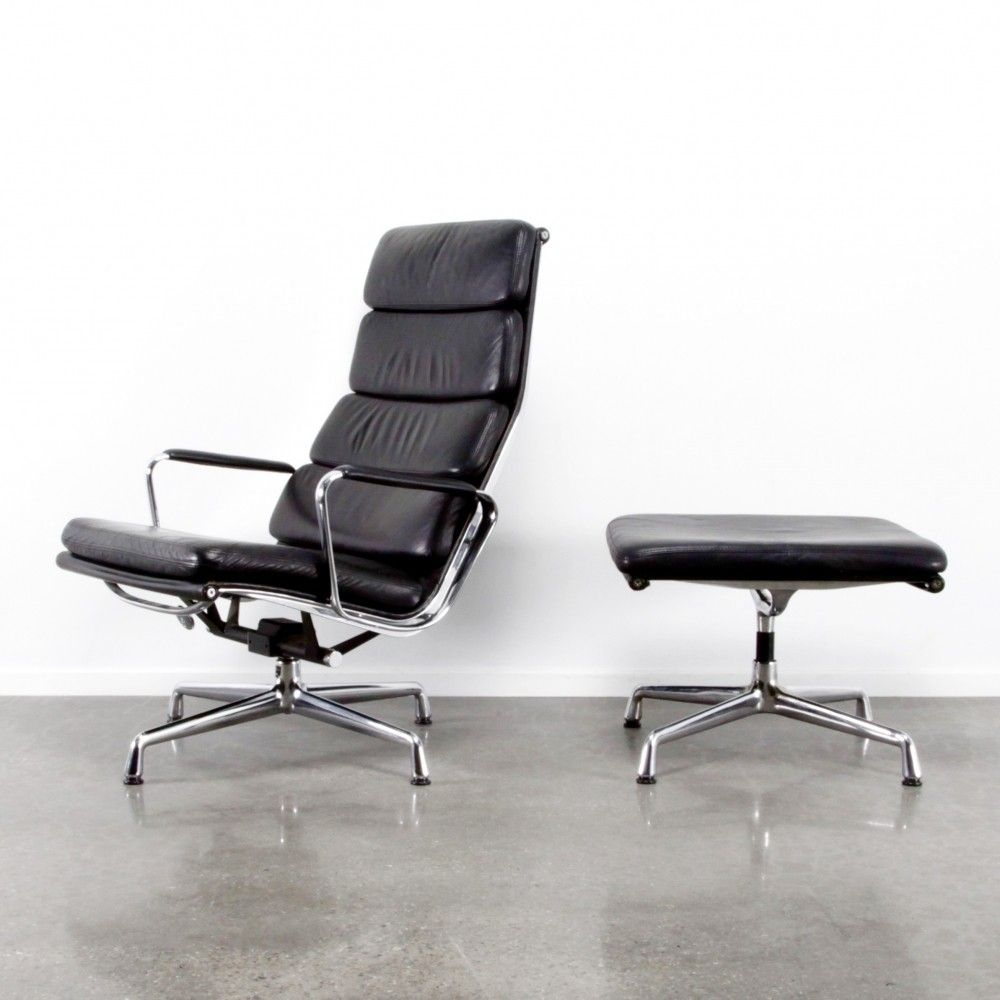 Ea222 ea223 softpad lounge chair from the eighties by