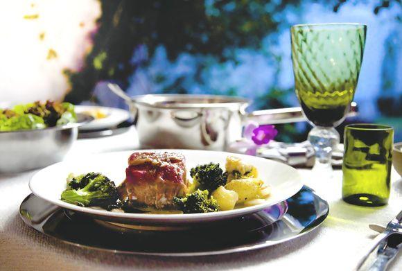 Bacalhau com presunto cru e batatas ao murro #receitasquebrilham