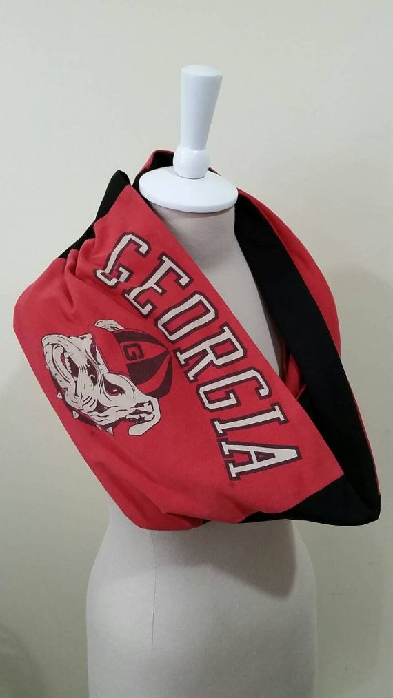 382272cb79a Recycled t-shirt University of Georgia infinity scarf