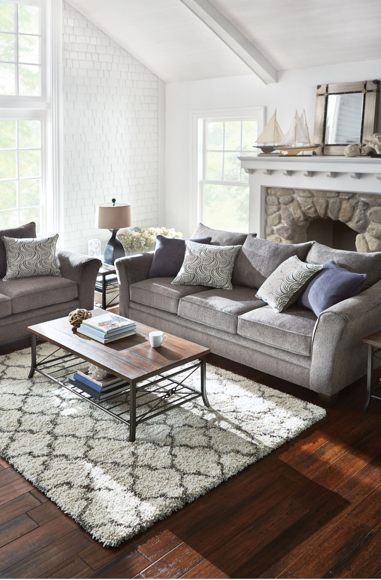 Albany Pewter Sofa Small Living Room Decor Trendy Living Rooms Beige Living Rooms #whole #living #room #sets