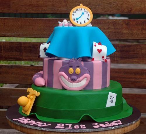 Alice in Wonderland Cake, Chesire Cat Cake, Ace of Hearts Cake, Madhatters Cake
