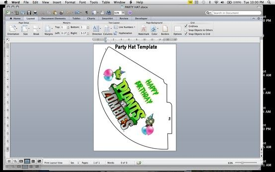 Diy Plants Vs Zombies Party Hat Got Template From The Internet