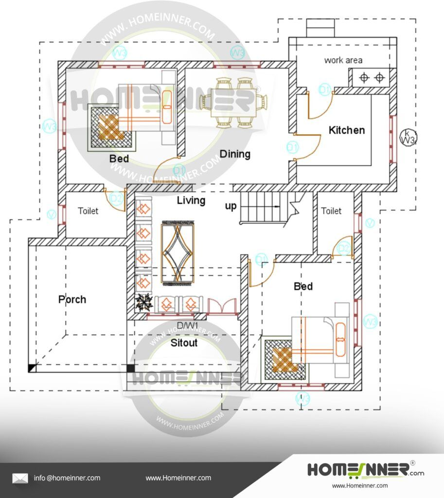 Optimal Layout For 1200 Square Feet House Kerala House Design House Design Photos House Design