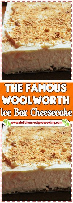 The Famous Woolworth Ice Box Cheesecake Via