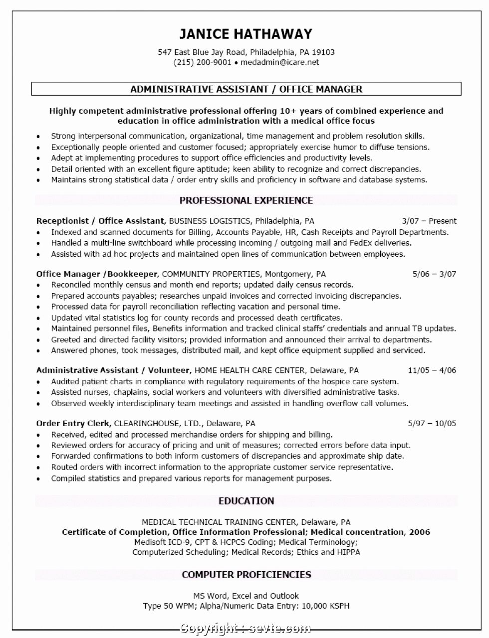 Front office manager resume lovely newest medical front
