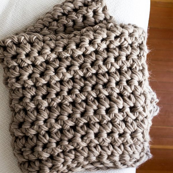 Crochet Throw Blanket Kit Hand Crochet Chunky Crochet Blanket
