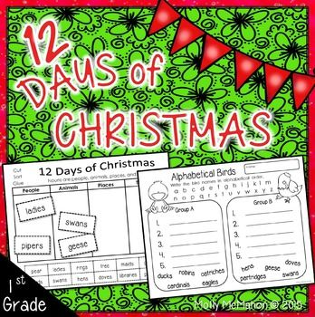 christmassongs this december packet is designed for first graders it includes printable sheets about noun groups plural nouns alphabetical order and - Plural Of Christmas