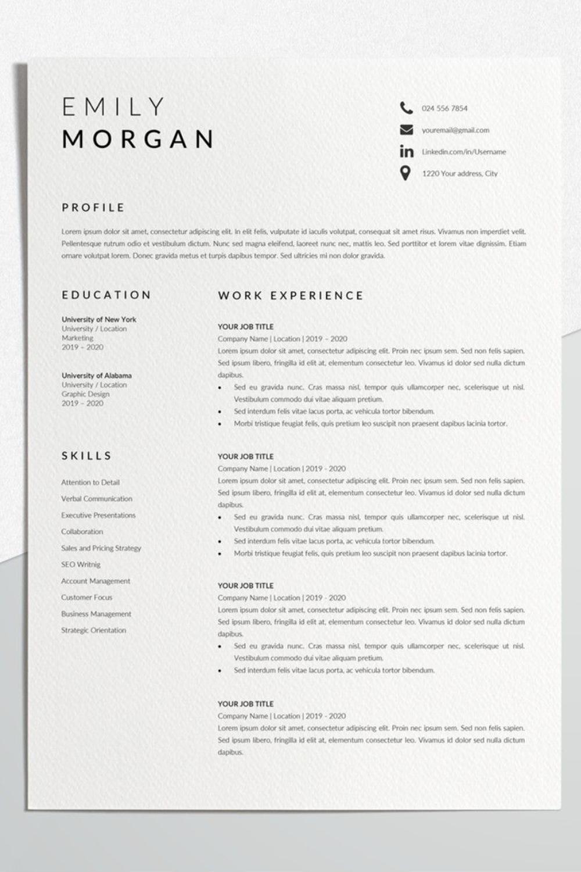 Professional Resume Design Cv Template Word Cv Resume Template Simple Format Of Cv Job Resume Template Simple Resume Format Minimalist Resume Template Minimalist Resume Simple Resume Template