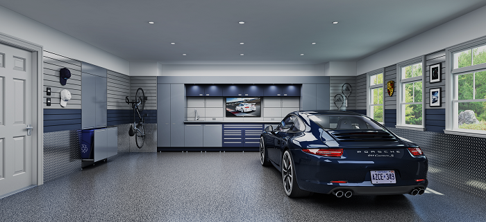 Garage Makeover Turn Your Garage Into A Showroom With Epoxy Flooring Epoxy Flo In 2020 Garage Design Garage Makeover Garage Interior