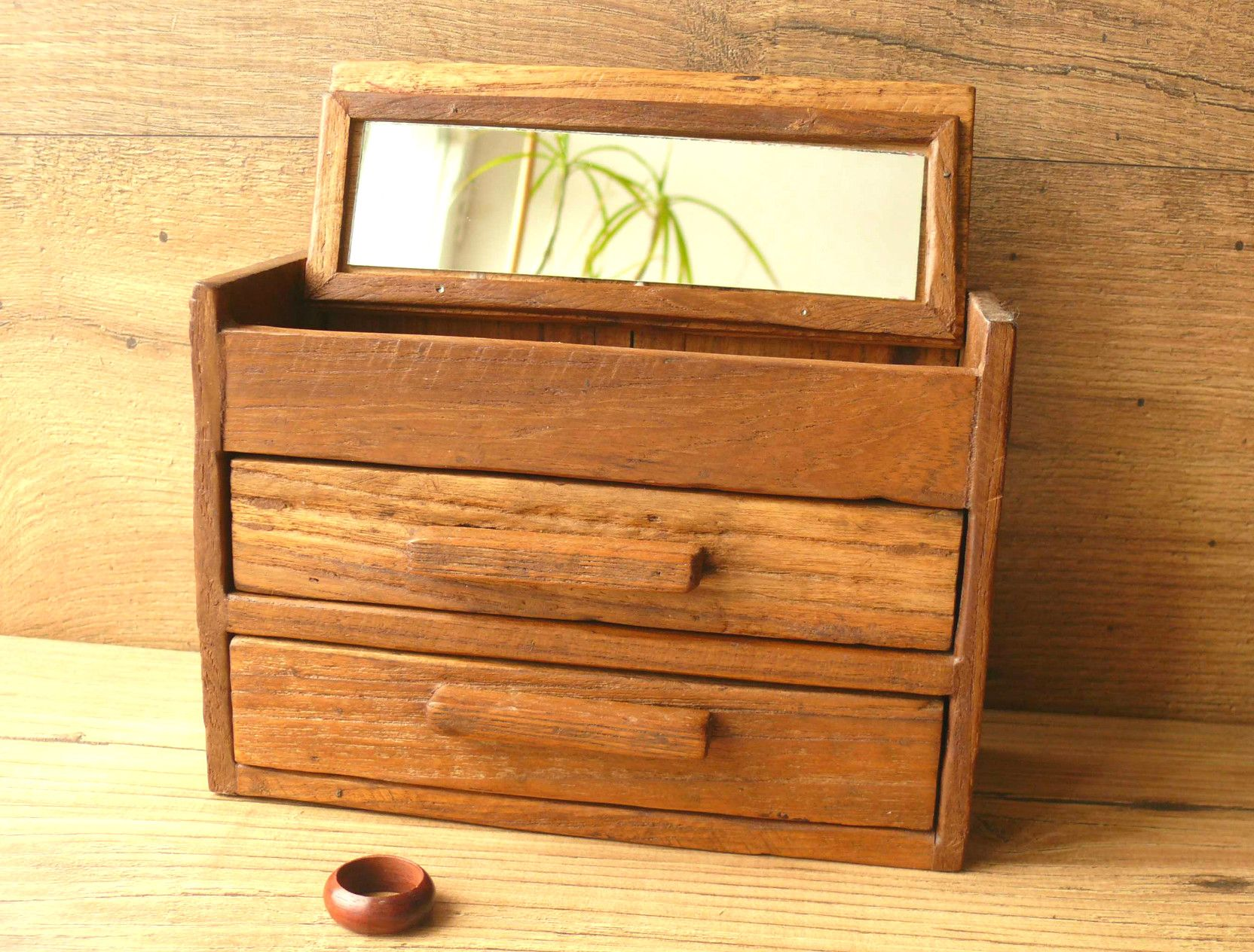 Charming rustic reclaimed teak jewellery boxes The beauty is in