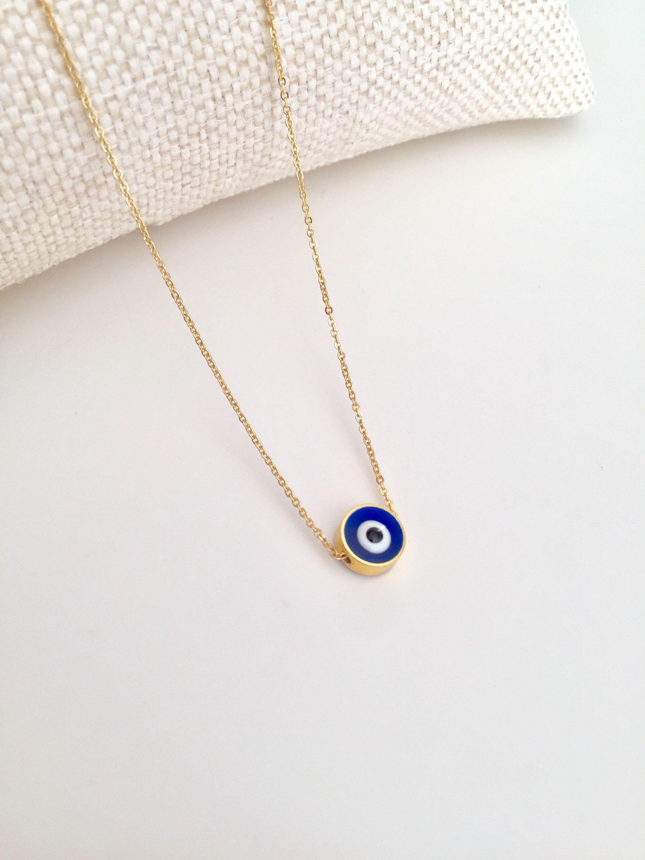 Evil Eye Necklace Turkish Charm Dainty Eye Necklace Turkish Etsy In 2020 Evil Eye Necklace Eye Necklace Turkish Jewelry