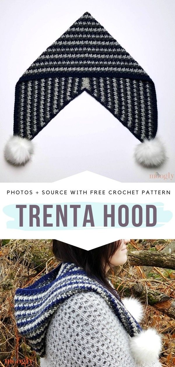 How to Crochet Trenta Hood #crochetedheadbands