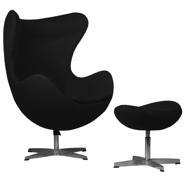 Amazoncom Leisuremod Arne Jacobsen Egg Chair Ottoman Dark Gray