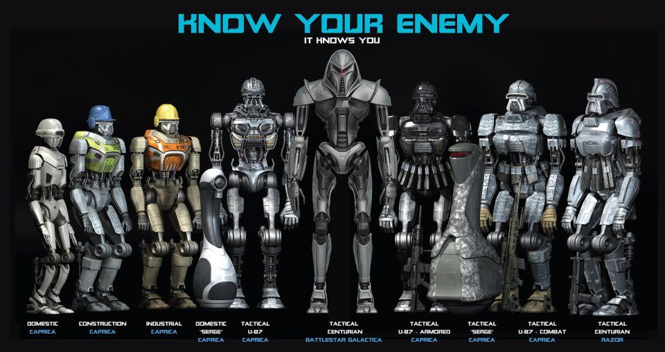 Cylons. Know your enemy | Battlestar Galactica/BSG ...
