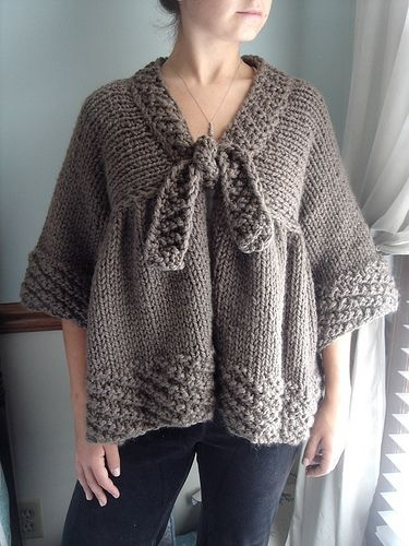 The first garment I ever made. Elise-Swing Cardigan ...
