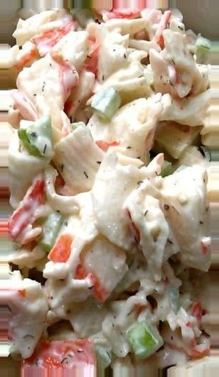 cold seafood appetizers salad seafood crab seafood salad 14 ounces imitation crab 1/2 cup