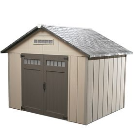 Homestyles 10 X 10 Vinyl Premier Storage Shed This Shed Is 1200 Shed Vinyl Storage Sheds Shed Plans