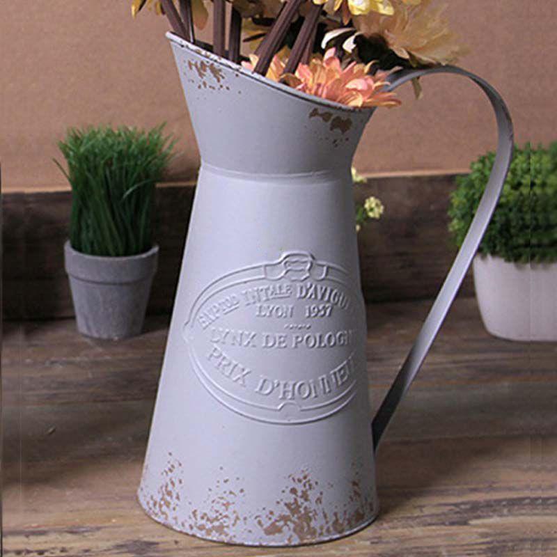 Large Metal Jug Flower Pitcher Vase View Watering Jug Ys Product