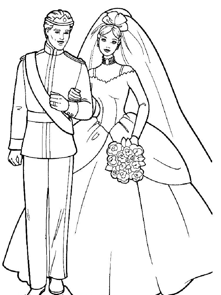 Barbie Coloring Pages Wedding Boyama Kitaplari Cizimler Sanat Gunlugu