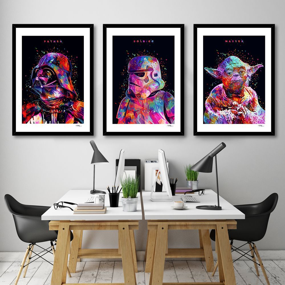 Welcome To The Colorful Side Of The Force Star Wars Series By Alessandro Pautasso Man Cave Art Signed Art Prints Sign Art