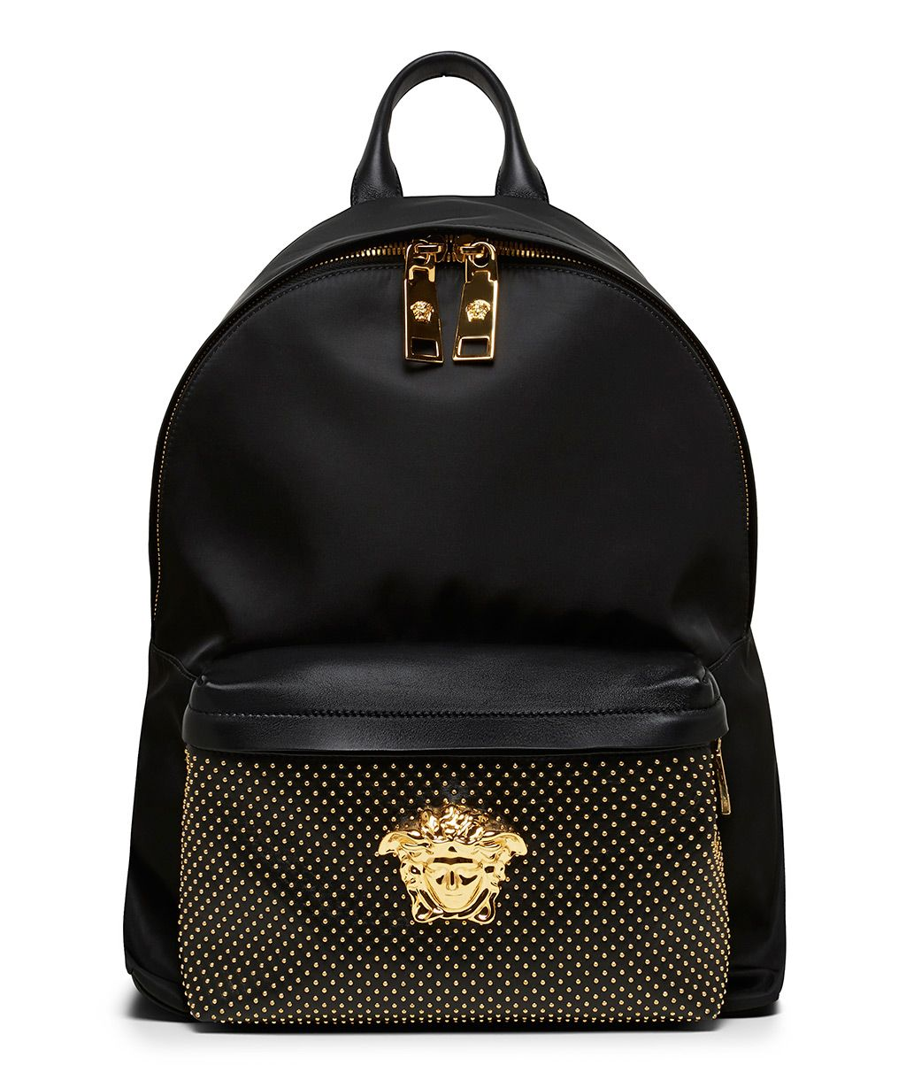 9d9fc0ede2 Versace Black Nappa Leather Backpack-SS15VERSA1 - Sneakerboy ...